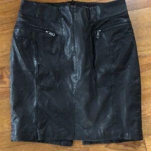 Andrew Marc Lambskin Skirt